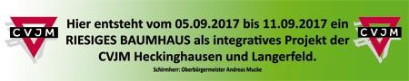 Banner Baumhaus der CVJM Heckinghausen und Langerfeld
