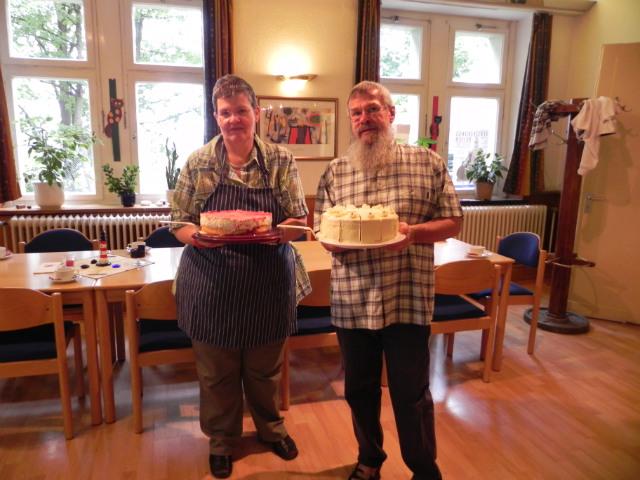 Sabine und Volker Kappe im Café Hedtberg