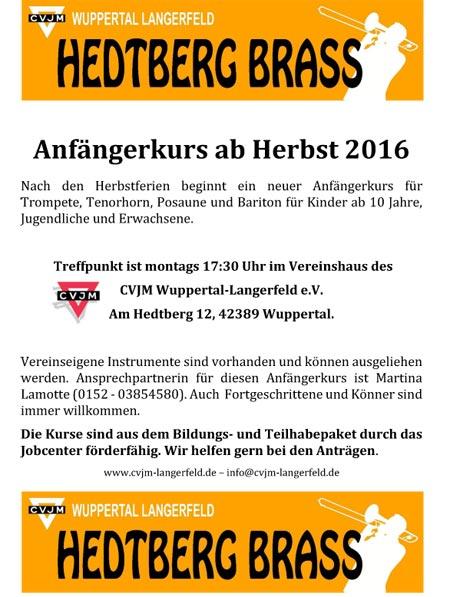 Flyer 2016 für Anfänger
