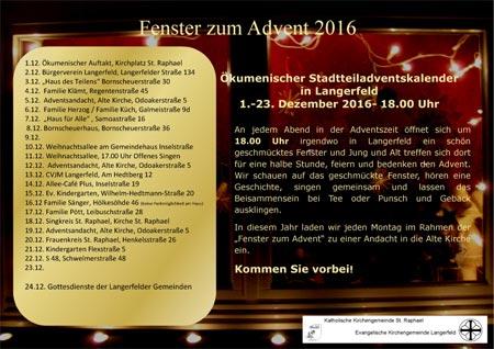 Fenster zum Advent 2016