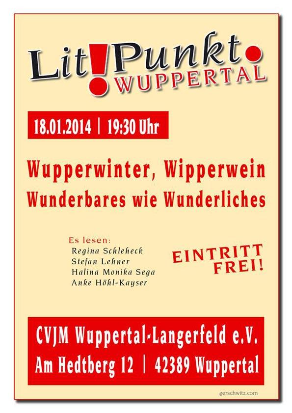 Lit!Punkt Wuppertal am 18.01.2014 im CVJM Langerfeld