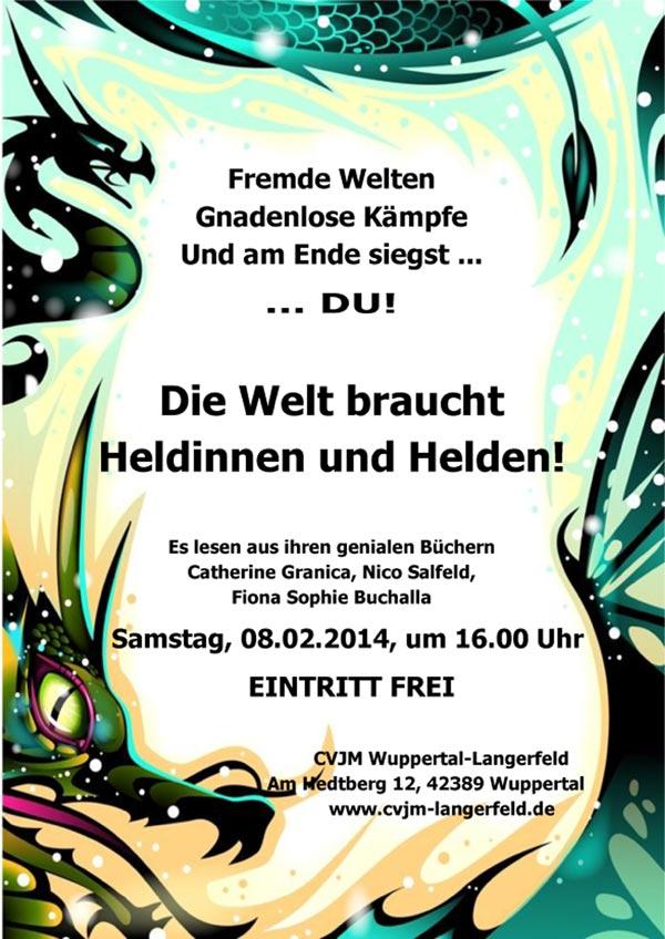 Plakat Lesung am 08.02.2014 für die Jugend