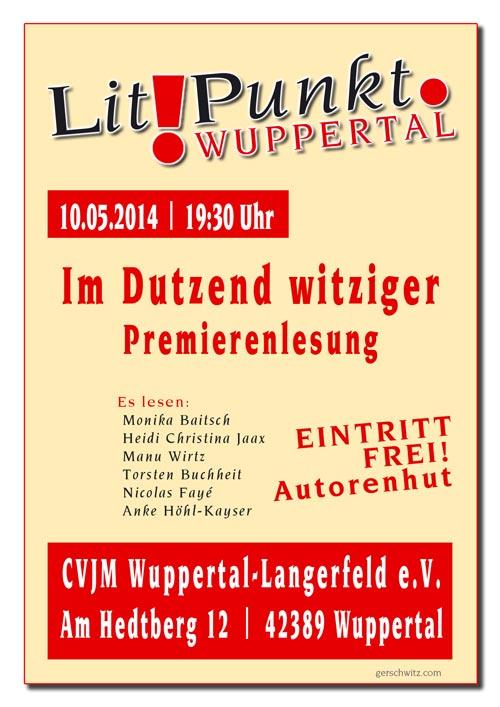 Plakat für Lesung am 10.05.2014