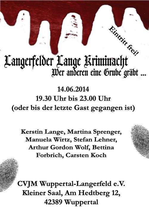 Plakat Langerfelder Krminacht am 14.06.2014