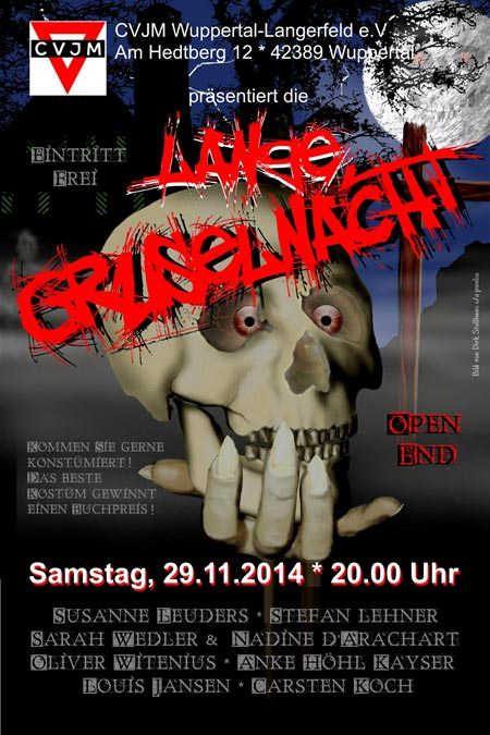Plakat CVJM Langerfeld - Lange Gruselnacht