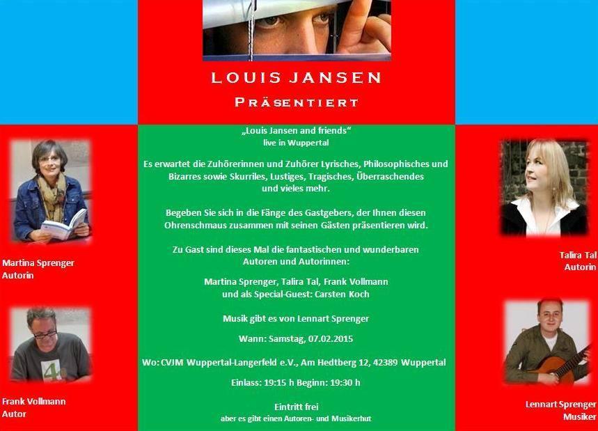 Plakat für Lesung am 07.02.2015