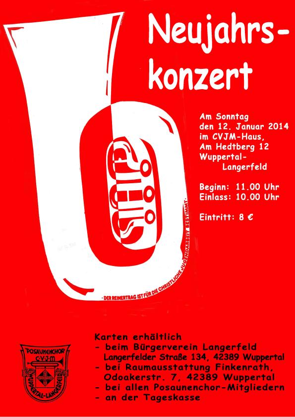 Neujahrskonzert des CVJM Wuppertal-Langerfeld am 12.01.2014